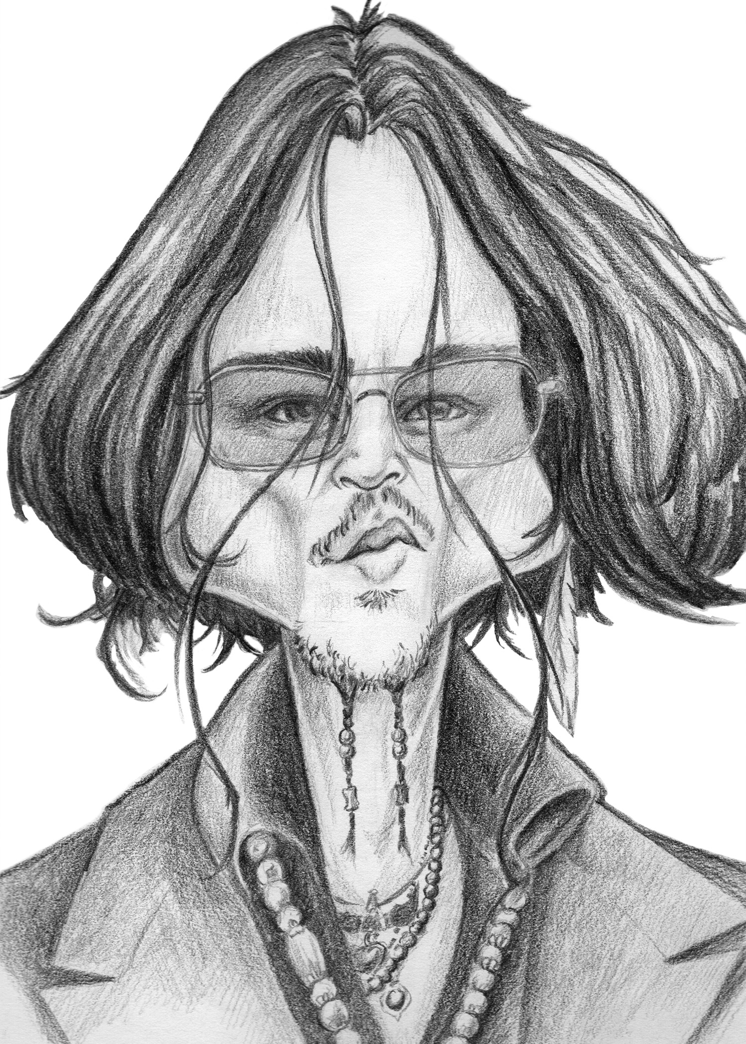 Caricature of Johnny Depp