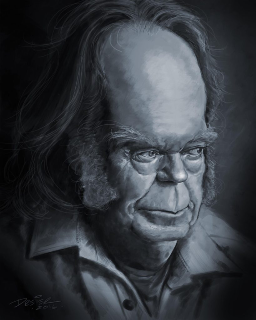 Kurt Dreier Neil Young Caricature