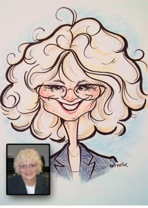 Jane Evans Caricature